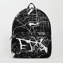 Amsterdam Black on White Street Map Backpack