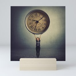 time control Mini Art Print
