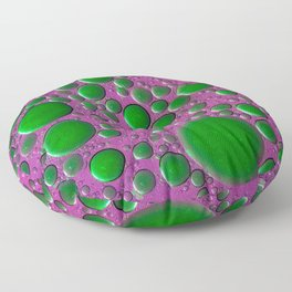 The world of bubbles - pink and green Floor Pillow