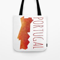 portugal Tote Bags featuring Portugal by Stephanie Wittenburg