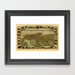 Map Of Oakland 1900 Framed Art Print