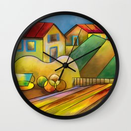 My Country Life Wall Clock