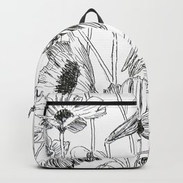 flower party black and white Backpack