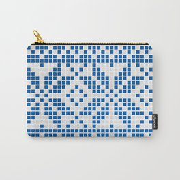 Blue & White Ethnic Pattern Carry-All Pouch