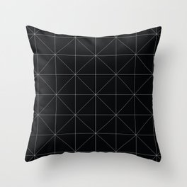 Geometric black and white Throw Pillow