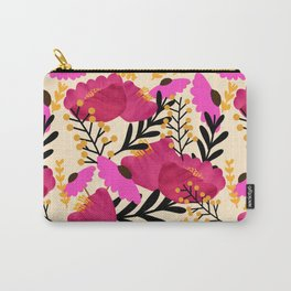 Vibrant Floral Wallpaper Carry-All Pouch