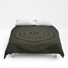 solar eclipse. visionary art. sacred geometry Comforters