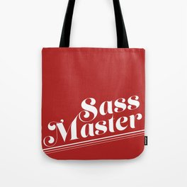 Sass Master Red Tote Bag