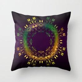 Fantasy Circle (Purple) Throw Pillow