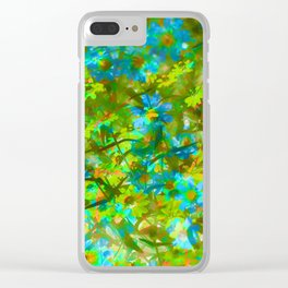 Abstract Garden Clear iPhone Case