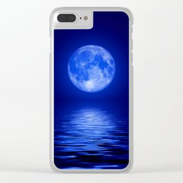 Blue Night Clear iPhone Case