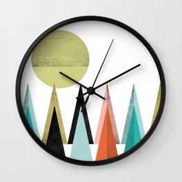 Bright colours Geometric Scandinavian Inspiration Wall Clock
