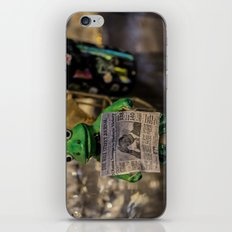 Froggy Reads the Wall Street Journal iPhone & iPod Skin