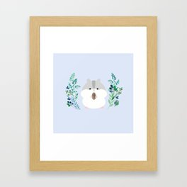 Furball in the garden Framed Art Print