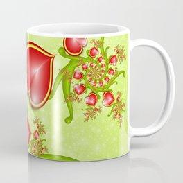 Red Hearts Fractal Coffee Mug