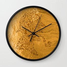 Sherlock - Gold Wall Clock