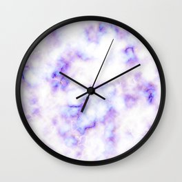 Pattern of purple marble Wall Clock
