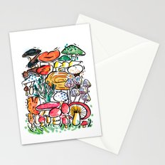 Fungi family Stationery Cards