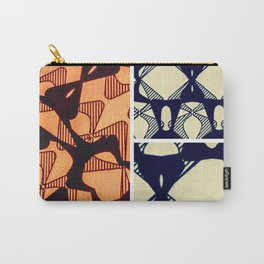 DISTORTION AND PERCEPTION PATTERN  - ORANGE Carry-All Pouch