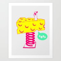 cheese Art Prints featuring Cheese by Wesley Fry