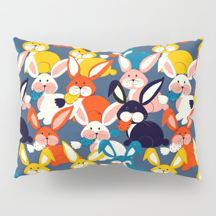 Rabbit colored pattern no2 Pillow Sham
