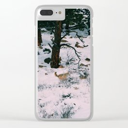 Coyotes on the hunt square version Clear iPhone Case