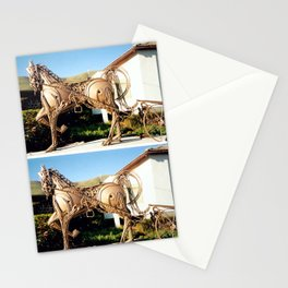 Horse & Plough by Shimon Drory Stationery Cards