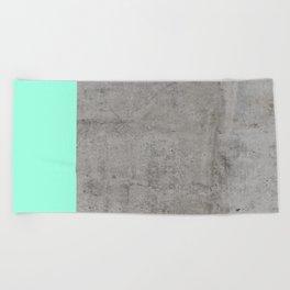 Sea on Concrete Beach Towel