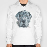 great dane Hoodies featuring Baden // Blue Great Dane by ali_grace_gal