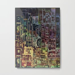 Where Are YOU -4 / Urban Density Metal Print