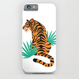 Tiger with leaves iPhone Case