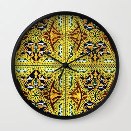 Arabic Tiles Wall Clock