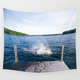 Lake Splash Wall Tapestry