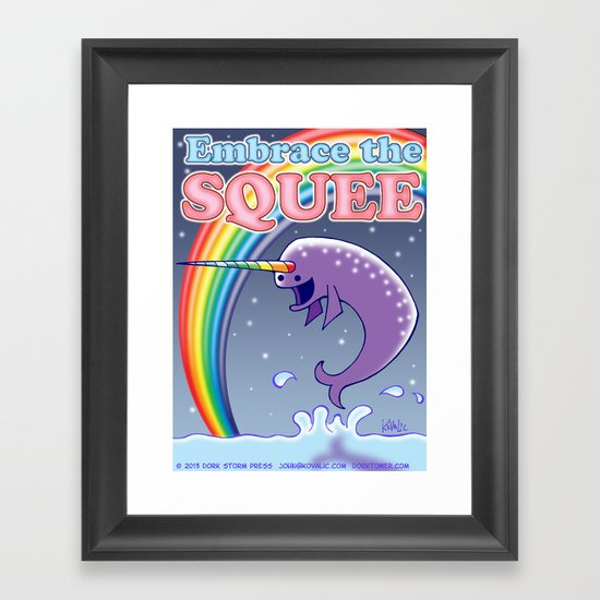Embrace The Squee! Framed Art Print
