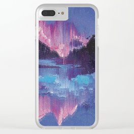 Glitched Landscapes Collection #4 Clear iPhone Case