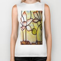 stained glass Biker Tanks featuring Stained Glass by Debra Ulrich