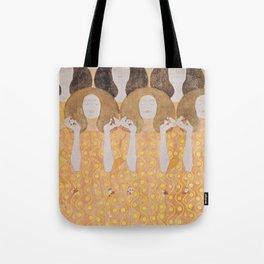 Gustav Klimt - Choir of Angels (Chor Der Paradiesengel) Tote Bag