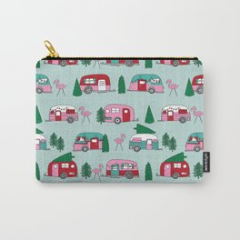 Camper vacation christmas road trip tropical home away from home pattern Carry-All Pouch