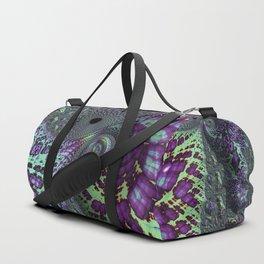 Glitchy Fractal Duffle Bag
