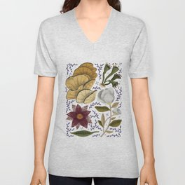 Magical plants and flowers Unisex V-Neck