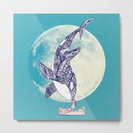 Kiss Good Night - Orca I Metal Print