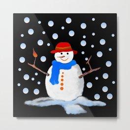 Snowman 02 Metal Print