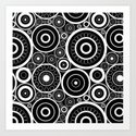 Abstract black and white pattern. by marinaklykva