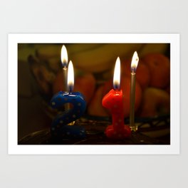 21 Candles Art Print