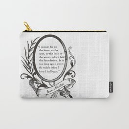 "Jane Austen ""In the Middle"" Carry-All Pouch"