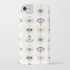 Evil Eye Collection on White Slim Case iPhone 7
