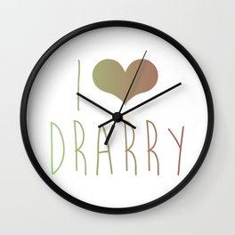 I Love Drarry Wall Clock