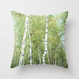 the birch forest III Throw Pillow