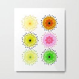 Flowers In Wonderland Metal Print
