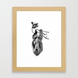 Closed-circuit Sloth Framed Art Print